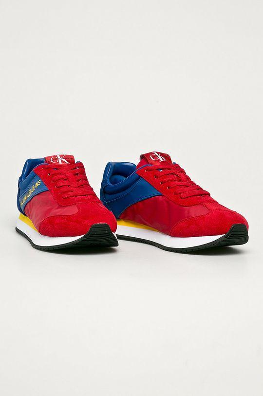 Calvin Klein Jeans - Topánky červená