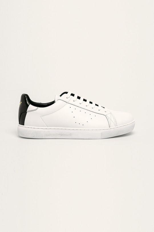 bílá Emporio Armani - Kožené boty Pánský