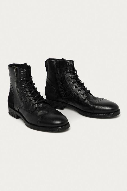 Aldo - Kožené boty Bravin černá