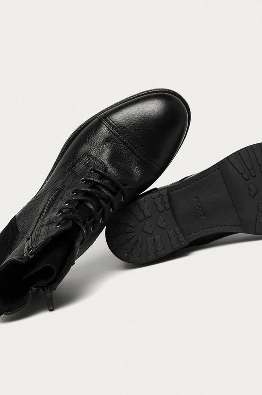černá Aldo - Kožené boty Bravin