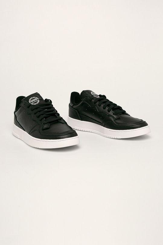adidas Originals - Kožené boty Supercourt černá