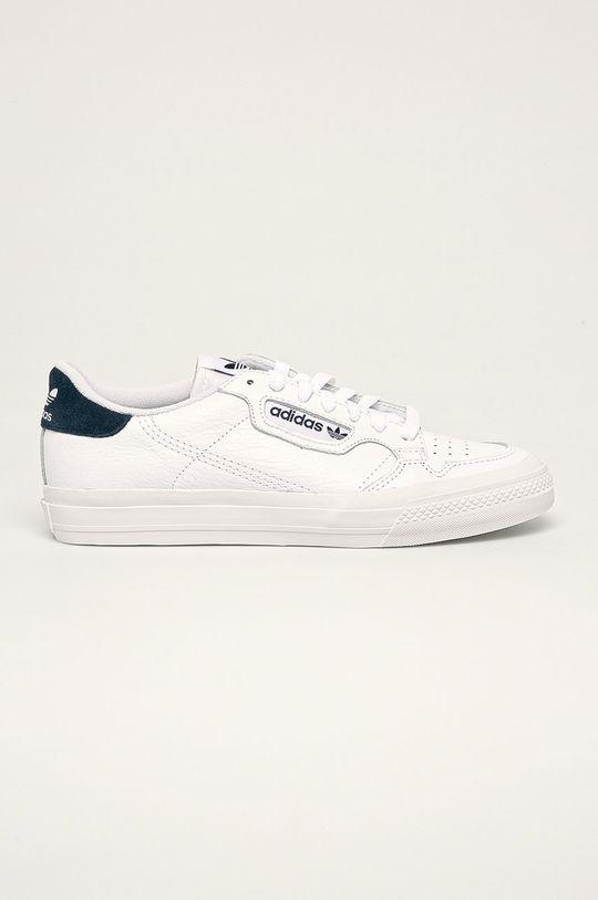 bílá adidas Originals - Kožené boty Continental Vulc Pánský