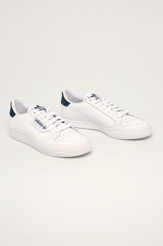 adidas Originals - Kožené boty Continental Vulc bílá