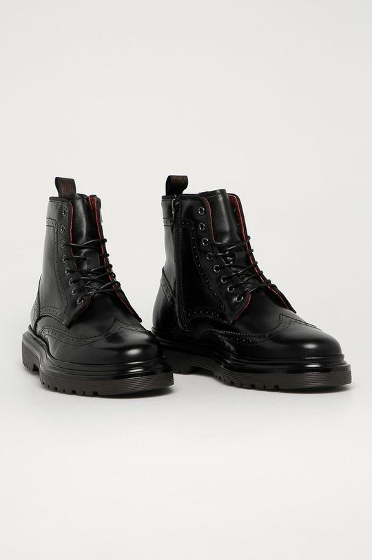 Gant - Buty skórzane Beaumont czarny