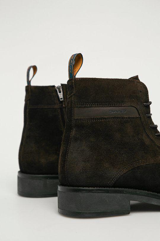 Gant - Kožené boty Brookly G46  Svršek: Semišová kůže Vnitřek: Textilní materiál, Přírodní kůže Podrážka: Umělá hmota
