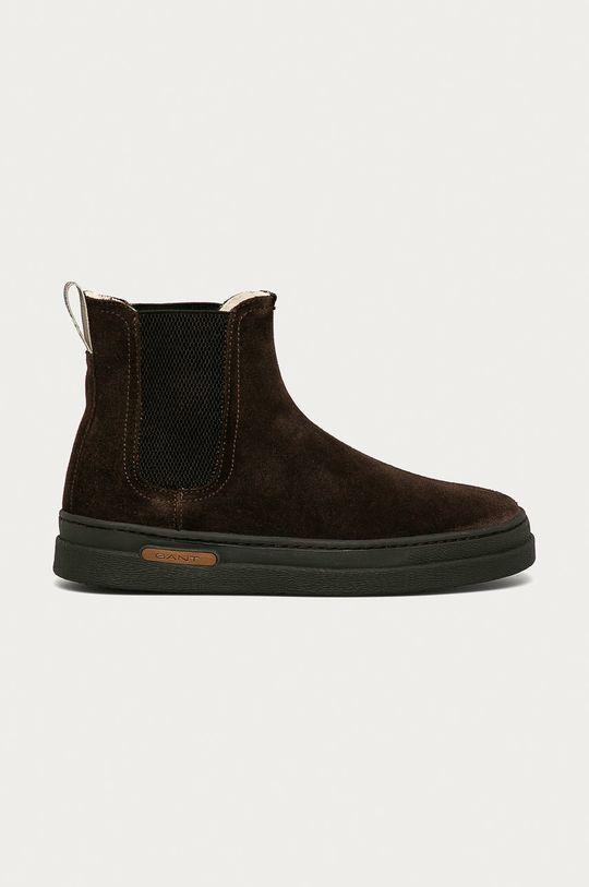 tmavě hnědá Gant - Semišové kotníkové boty Cloyd Pánský