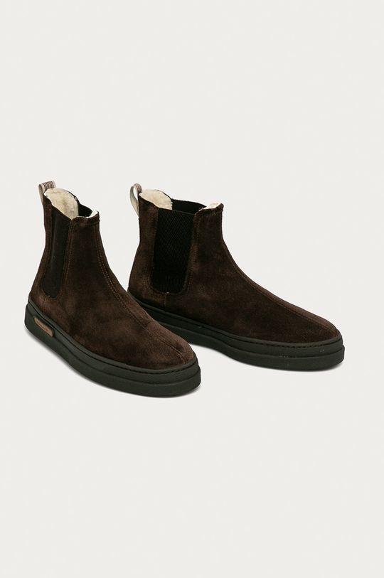 Gant - Semišové kotníkové boty Cloyd tmavě hnědá