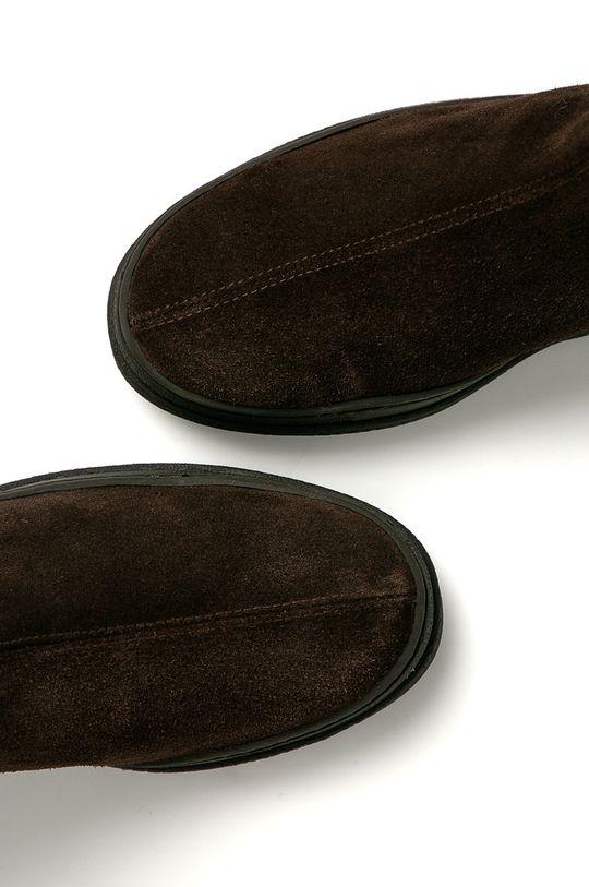 tmavě hnědá Gant - Semišové kotníkové boty Cloyd