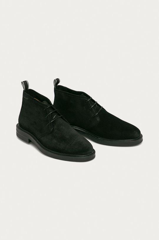 Gant - Semišové boty Kyree černá