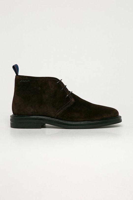 maro inchis Gant - Pantofi de piele intoarsa Kyree De bărbați