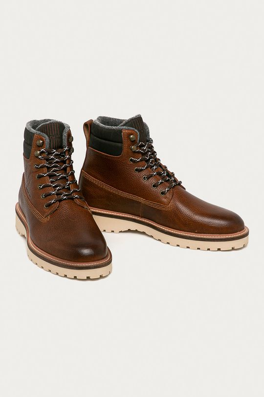 Gant - Kožené boty Roden hnědá