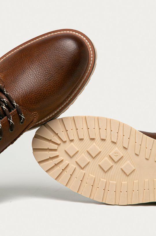hnědá Gant - Kožené boty Roden