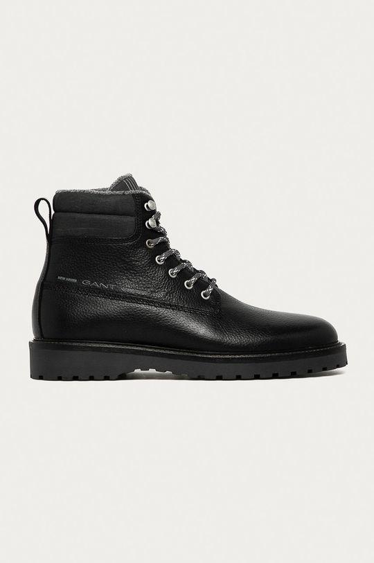 černá Gant - Kožené boty Roden Pánský