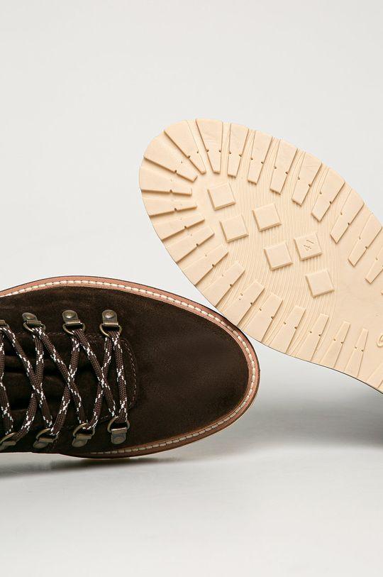 ciemny brązowy Gant - Buty zamszowe Roden