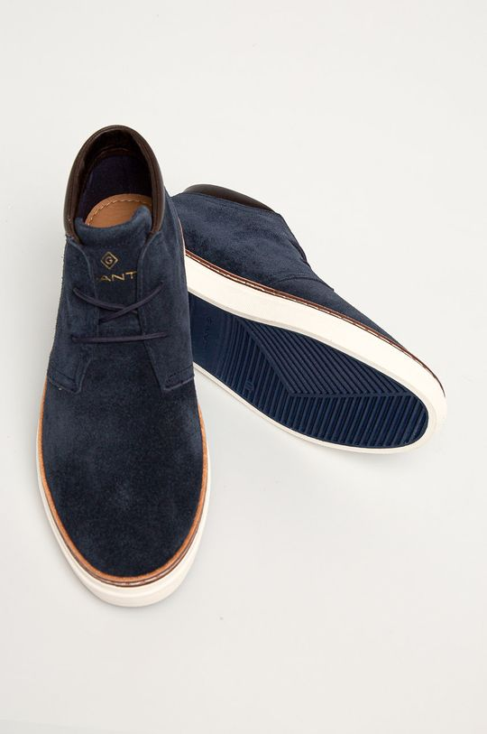 tmavomodrá Gant - Kožená obuv Prepville