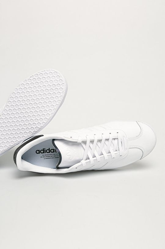 biały adidas Originals - Buty Gazelle