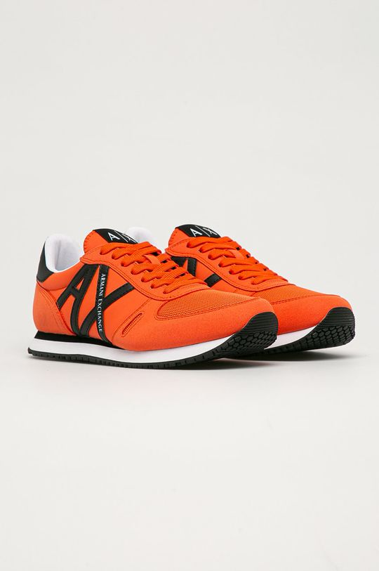 Armani Exchange - Topánky oranžová