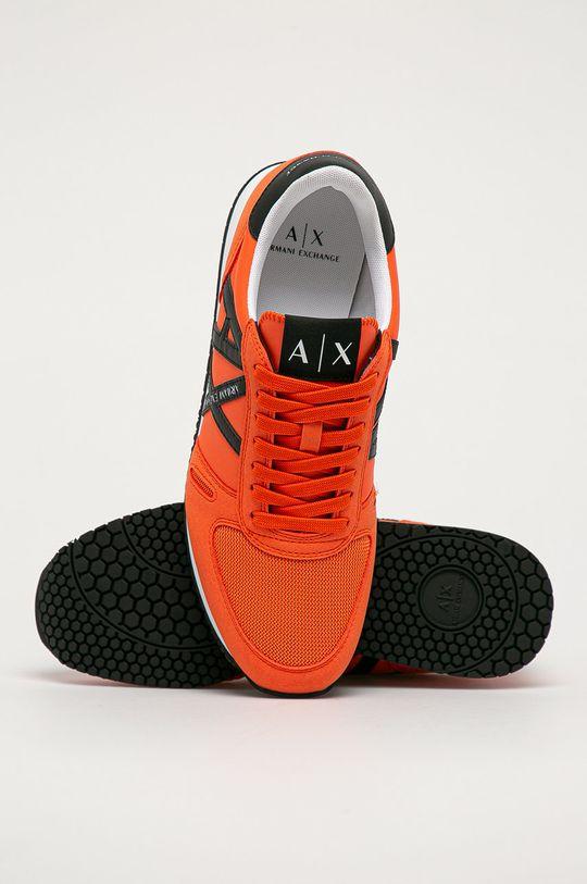 oranžová Armani Exchange - Topánky