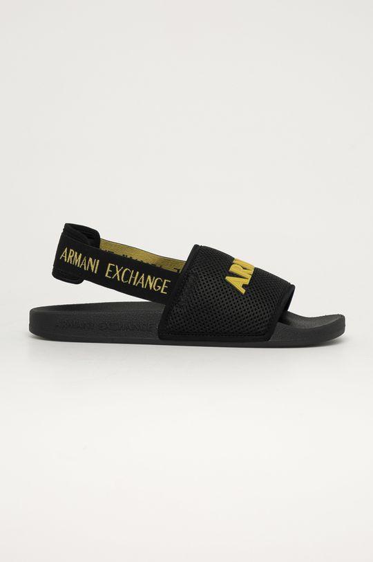 čierna Armani Exchange - Sandále Pánsky