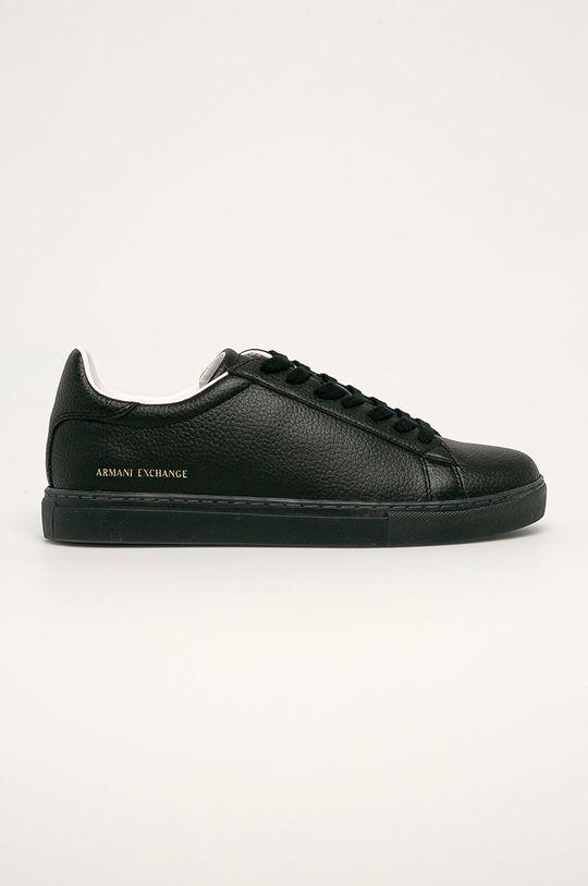černá Armani Exchange - Kožené boty Pánský