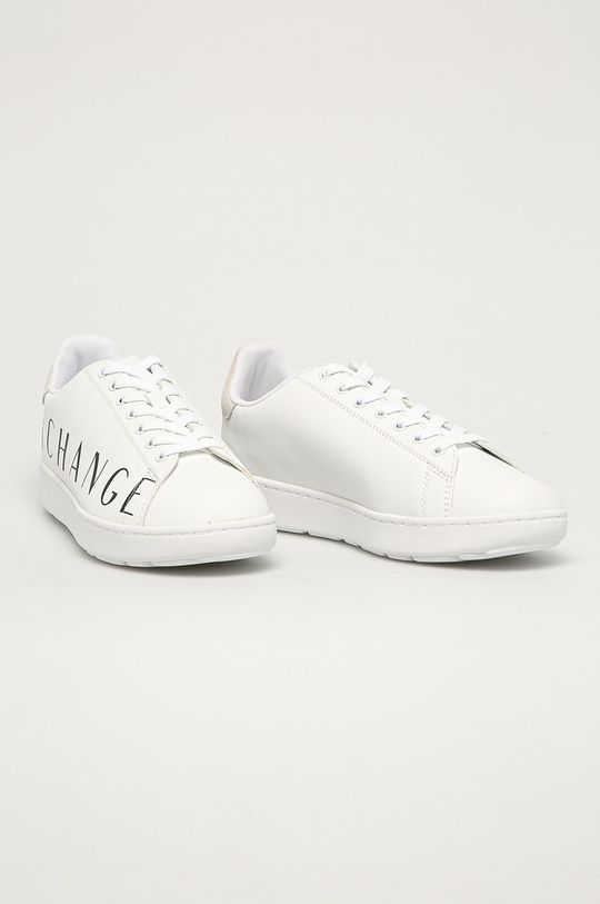 Armani Exchange - Pantofi alb