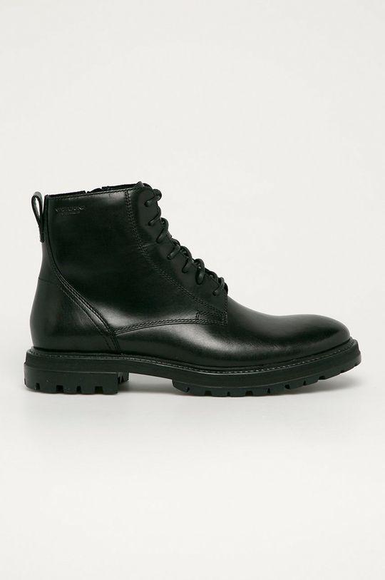 černá Vagabond - Kožené boty Johnny Pánský