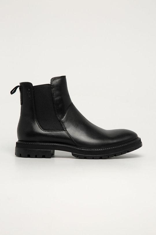 černá Vagabond - Kožené kotníkové boty Johnny Pánský
