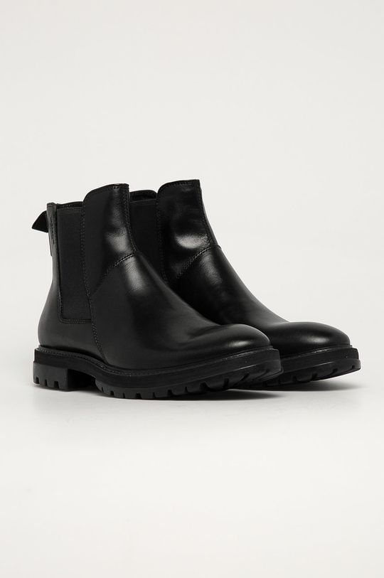 Vagabond - Kožené kotníkové boty Johnny černá