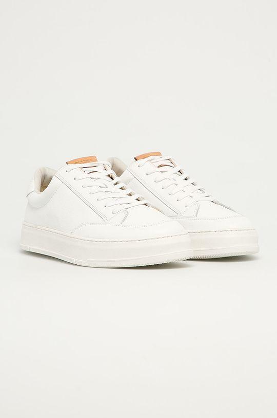 Vagabond - Kožené boty John bílá