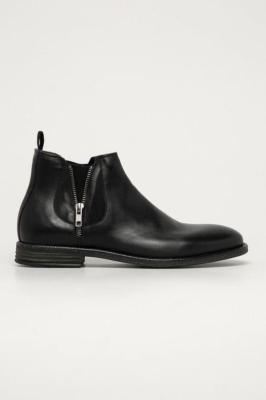 černá Aldo - Kožené boty Zeffrey Pánský