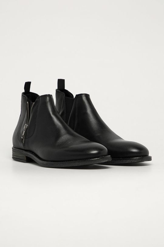 Aldo - Kožené boty Zeffrey černá