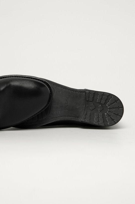 černá Aldo - Kožené boty Zeffrey