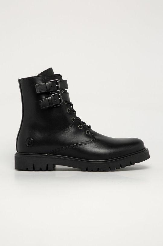 černá Trussardi Jeans - Kožené boty Pánský
