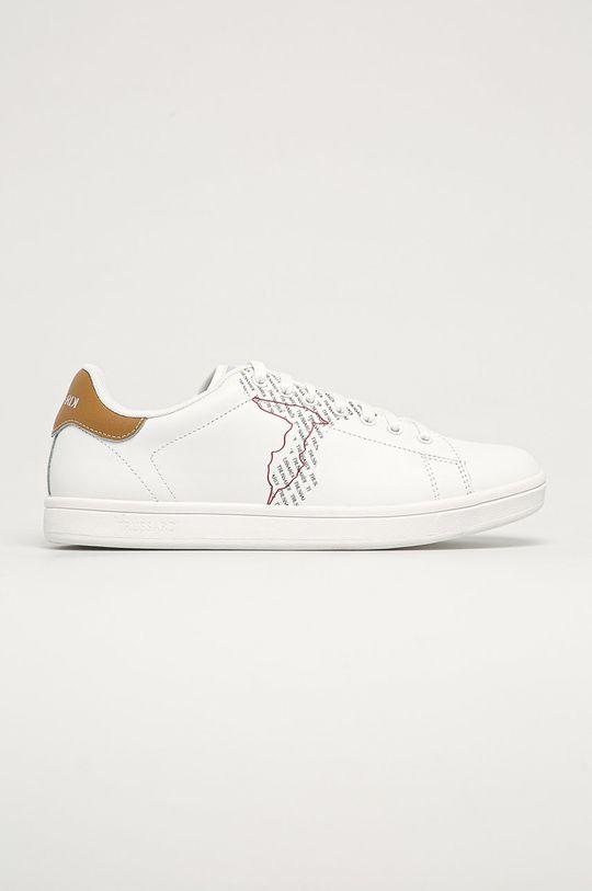bílá Trussardi Jeans - Kožené boty Pánský