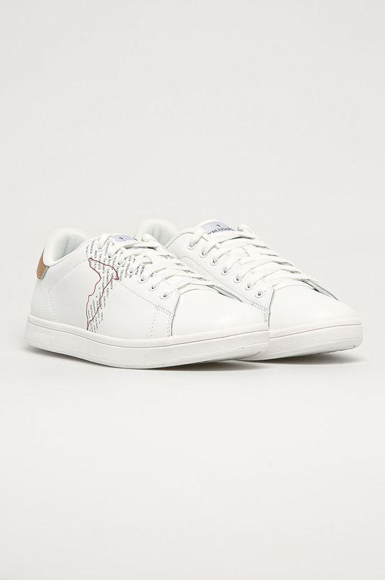 Trussardi Jeans - Kožené boty bílá