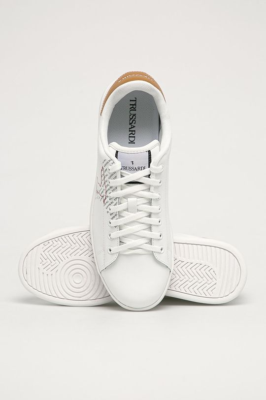 bílá Trussardi Jeans - Kožené boty