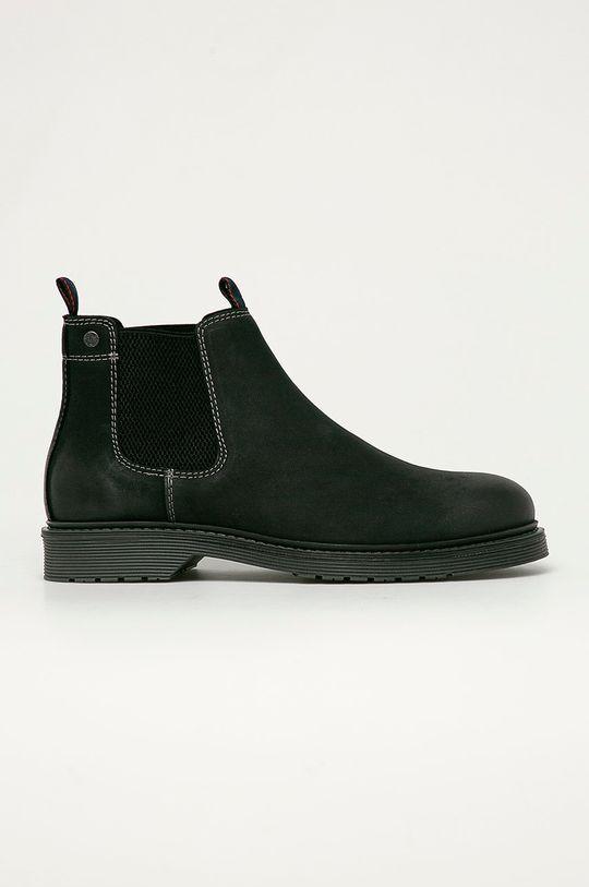 černá Jack & Jones - Semišové kotníkové boty Pánský