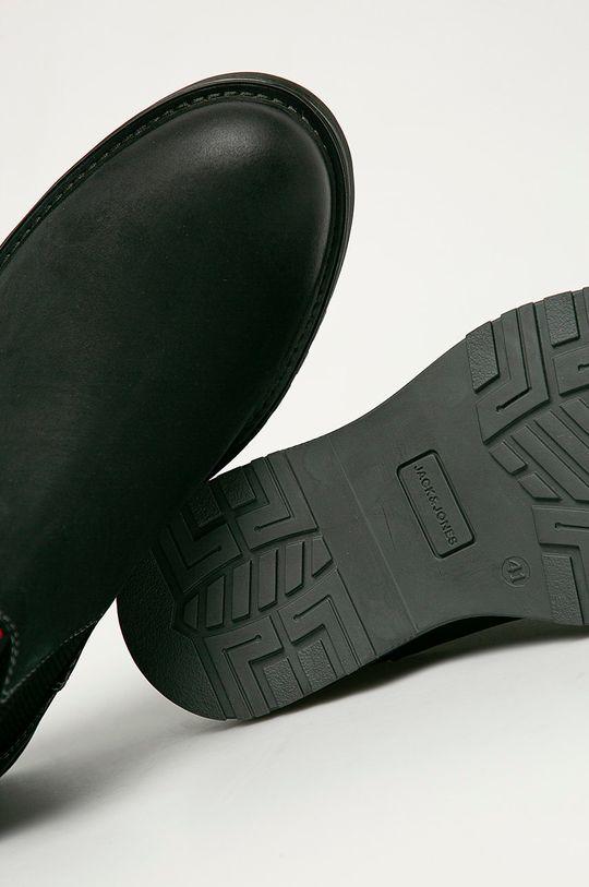 černá Jack & Jones - Semišové kotníkové boty