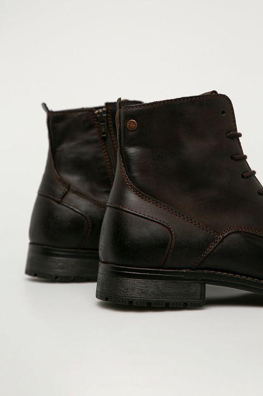 Jack & Jones - Kožené topánky  Zvršok: Prírodná koža Vnútro: Textil Podrážka: Syntetická látka