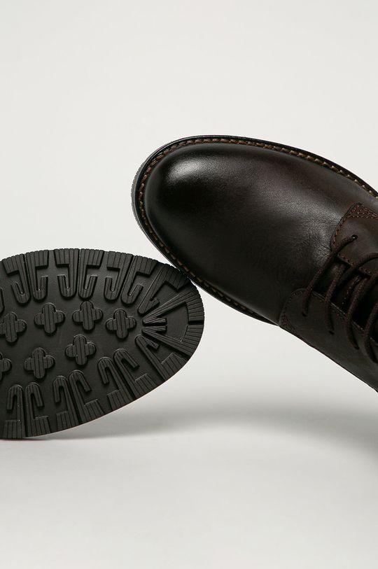 hnedá Jack & Jones - Kožené topánky