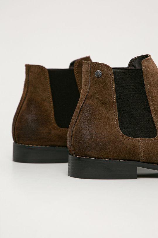 Jack & Jones - Kožené topánky Chelsea  Zvršok: Syntetická látka, Semišová koža Vnútro: Prírodná koža Podrážka: Syntetická látka