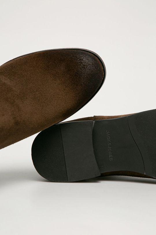 hnedá Jack & Jones - Kožené topánky Chelsea