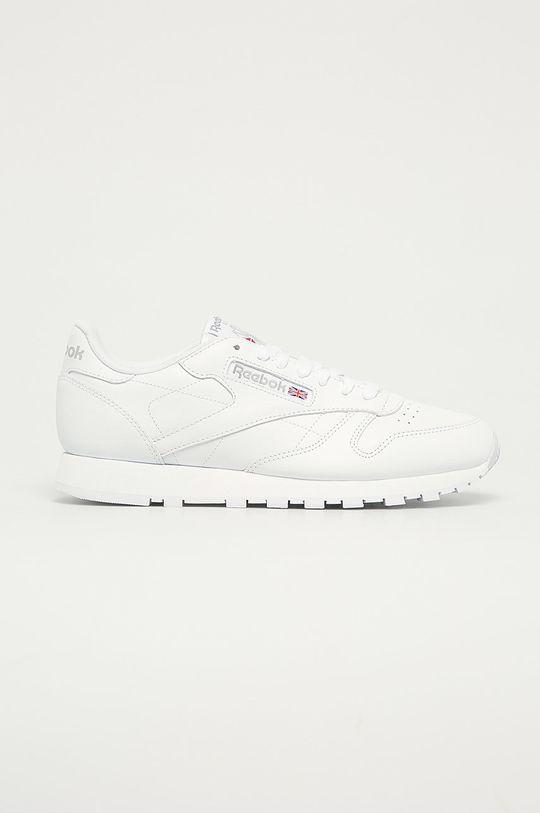 bílá Reebok Classic - Kožené boty Cl LTHR Pánský