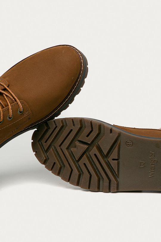 zlatohnědá Wrangler - Kožené boty