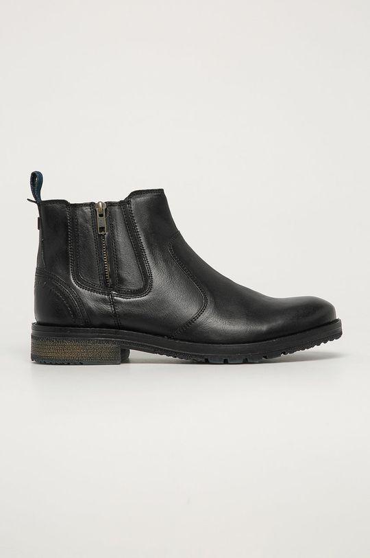 grafitová Wrangler - Kožené boty Pánský