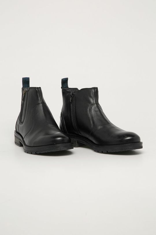 Wrangler - Kožené boty grafitová