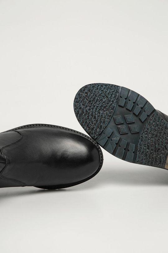 grafitová Wrangler - Kožené boty