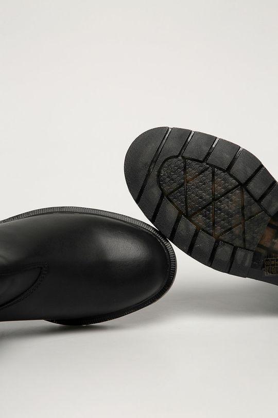 černá Wrangler - Kožené kotníkové boty