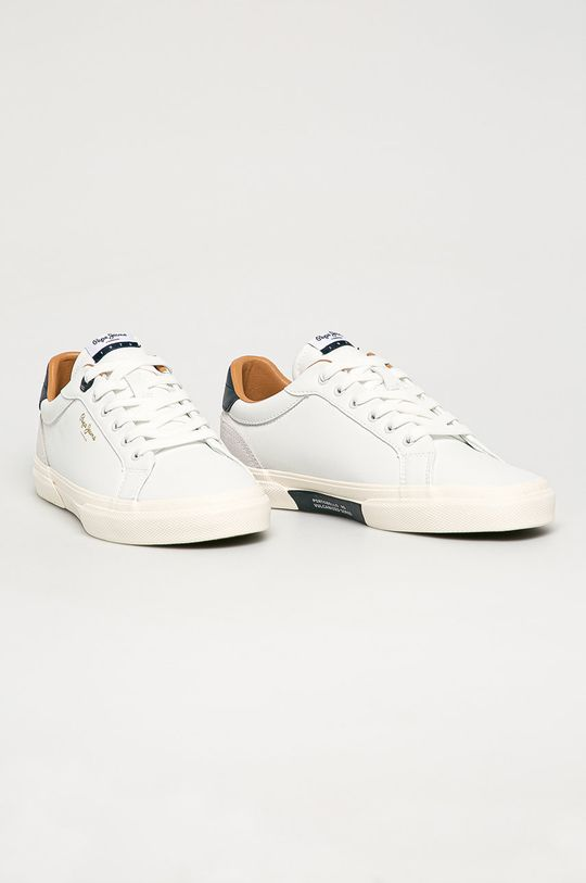 Pepe Jeans - Topánky Kenton Classic biela