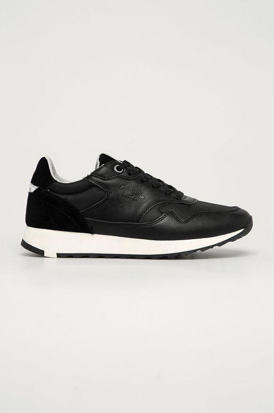 čierna Pepe Jeans - Kožená obuv Slab Urban Pánsky